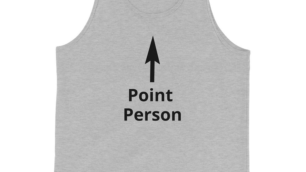 """The Circle NYC """"Point Person"""" Unisex Tank Top"""