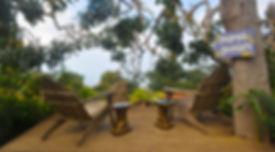 kula maui secret garden seats on a deck