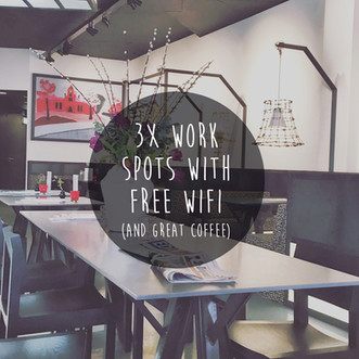 3X Work spots with free WIFI and great coffee