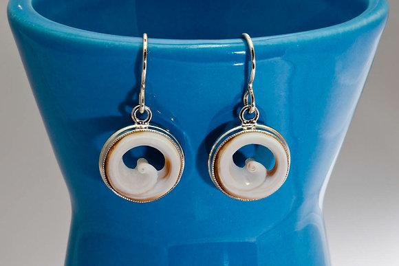 Bezel Wave Earrings