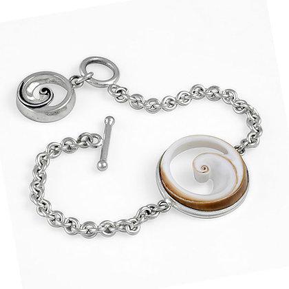 Bezel Wave counter weight bracelet
