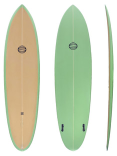 """6'10"""" - Twin Plugs Fin System"""