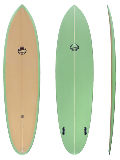 "6'10"" - Twin Plugs Fin System"