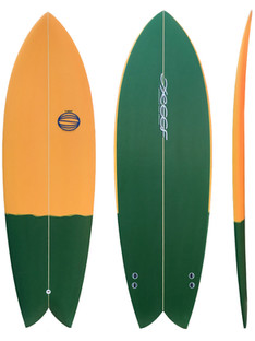 """5'4"""" - Twin Fin Plugs System"""