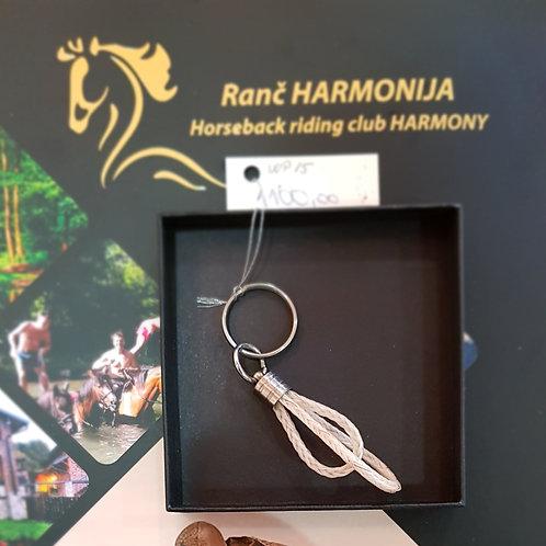 Privezak za kljuceve od konjske dlake, rucni rad
