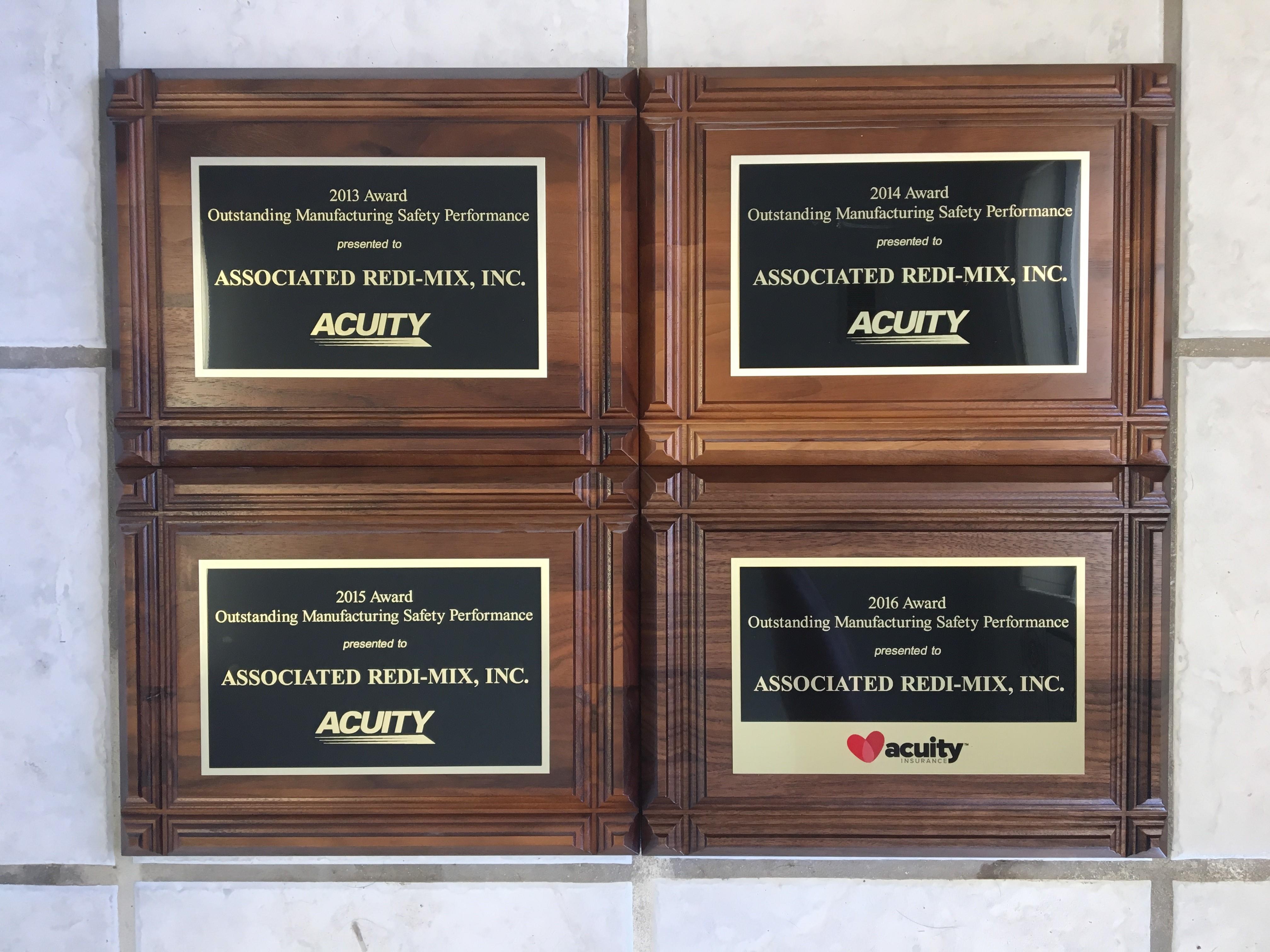 Acuity Safety Award 2016