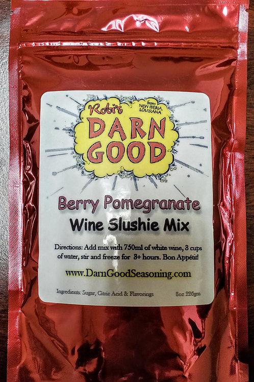 Berry Pomegranate Wine Slushies