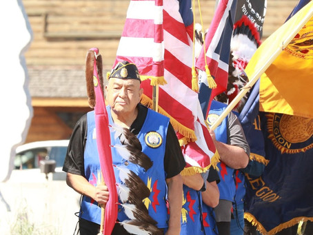 Paying tribute to former American Legion Commander Gilbert Jarvis