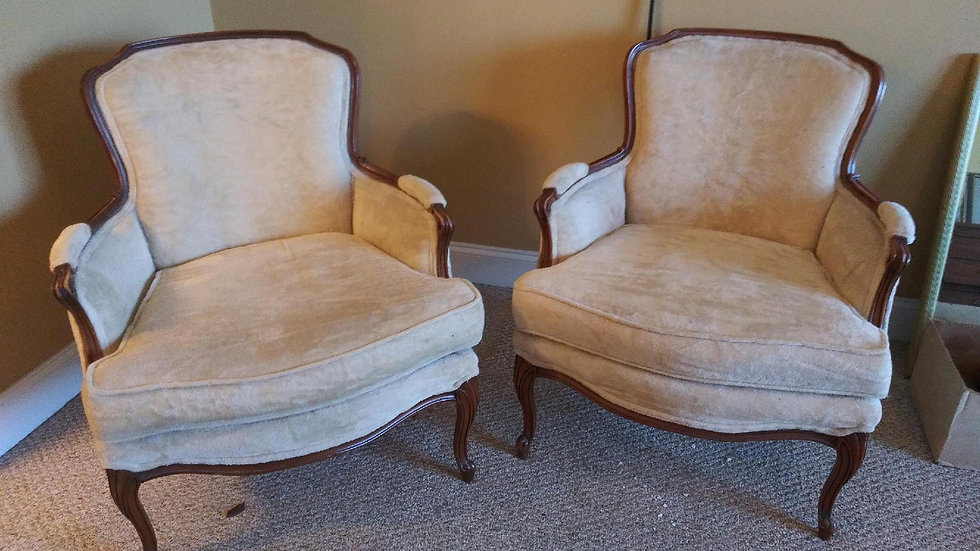Beige Queen Chairs -Two