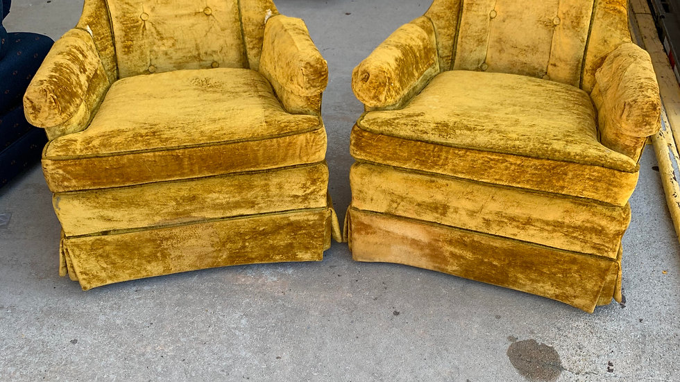Vintage Retro Gold Chairs