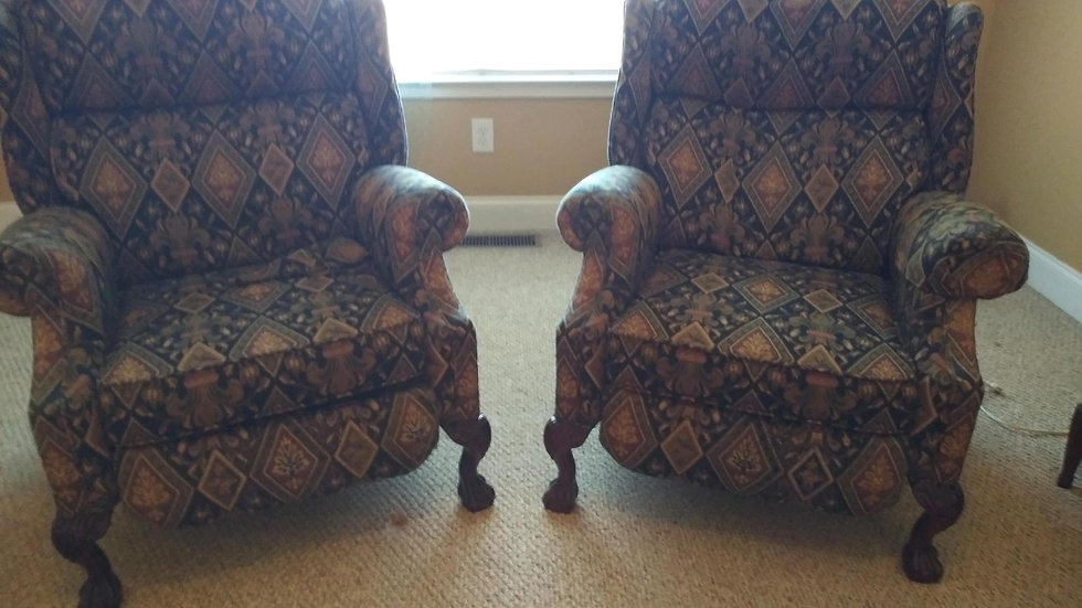 Blue Gold Chairs