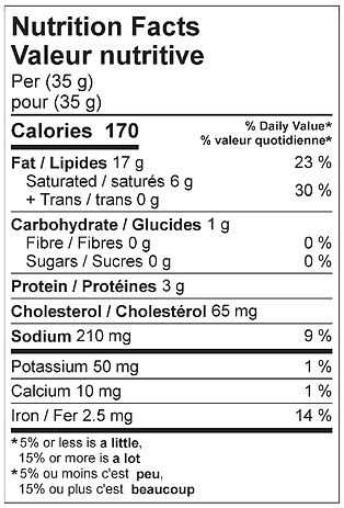 liversausage goose nutritional april 202