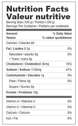 smoked turkey breast roll nutritional.pn