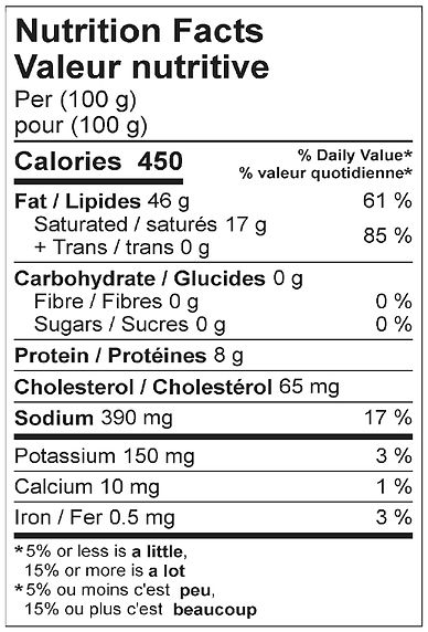 side bacon farmers style nutritional apr