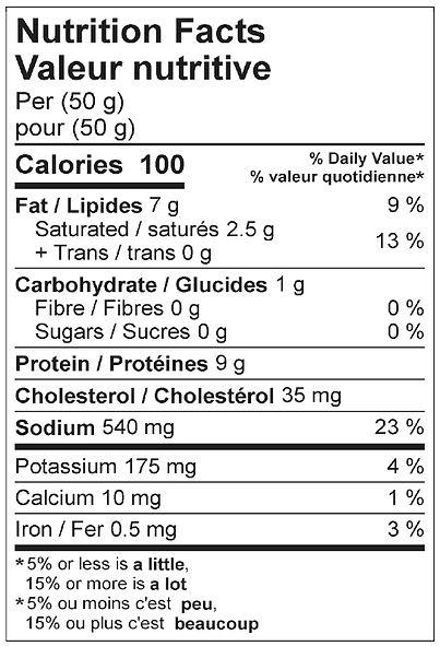 cervelat salami nutritional april 2021.j