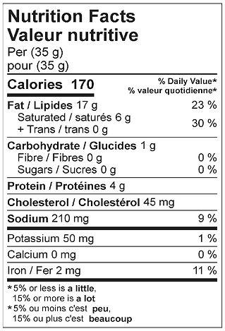 liversausage fine nutritional april 2021
