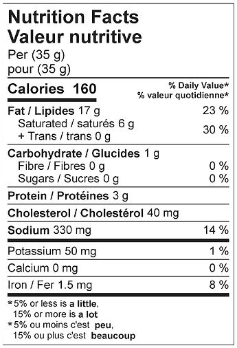 hausmacher liversausage nutritional apri