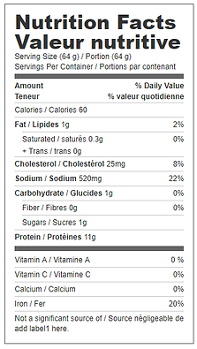 mini black forest ham nutritional.png