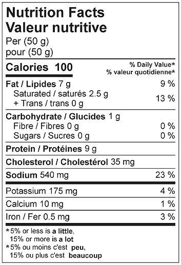 schlackwurst salami nutritional april 20