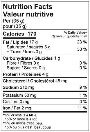 smoked liversausage nutritional april 20