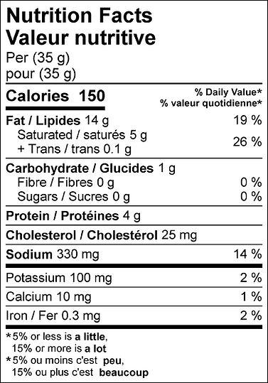 Honey Garlic Mini Pepperoni nutritional