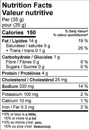 Jalapeno Mini Pepperoni nutritional upda