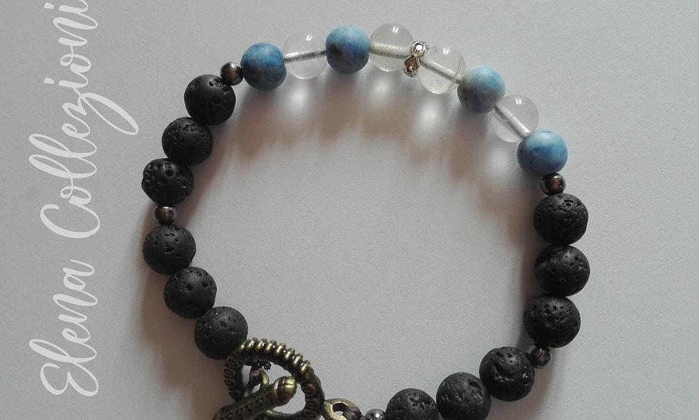 BraccialettoDonna/Ragazza Compleano Quarzo Blu