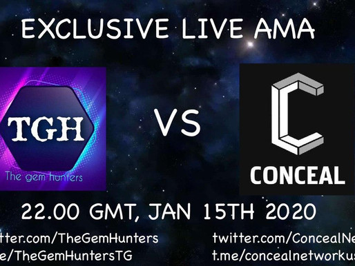Exclusive Live AMA with Conceal Newtork $CCX