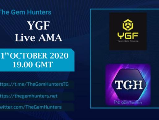 Yearn Gold Finance ($YGF) LIVE AMA