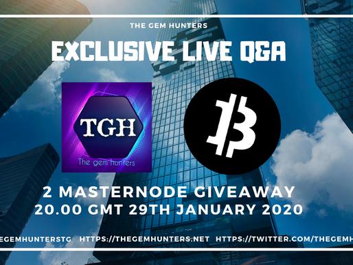 Exclusive Live Q&A with Bitcoin Incognito $XBI