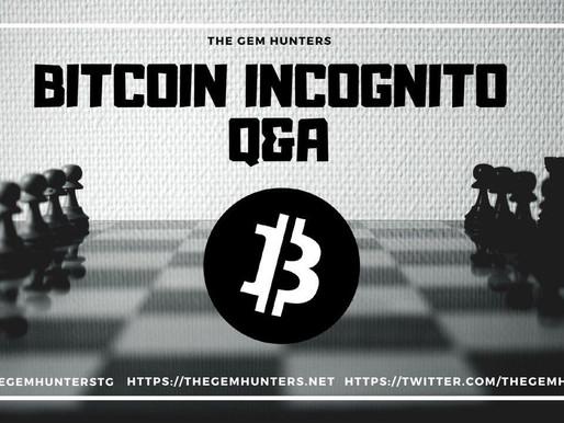 Bitcoin Incognito $XBI Q&A