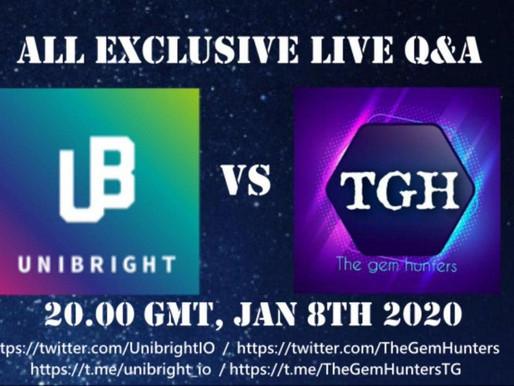 Unibright All Exclusive Live Q&A