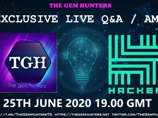 Exclusive live Q&A/AMA with @HackenAI