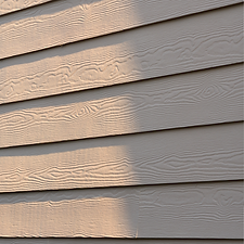 New Cement Siding installed