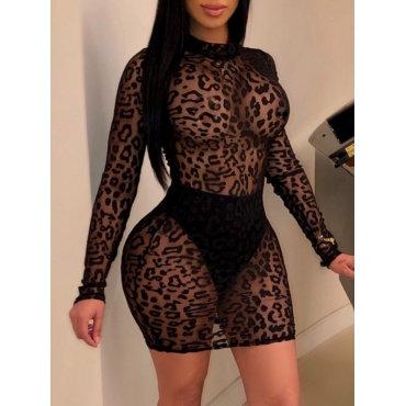 Cheetah Print Draw Attention Dress