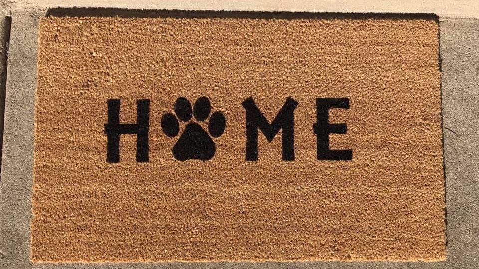 small HOME doormat