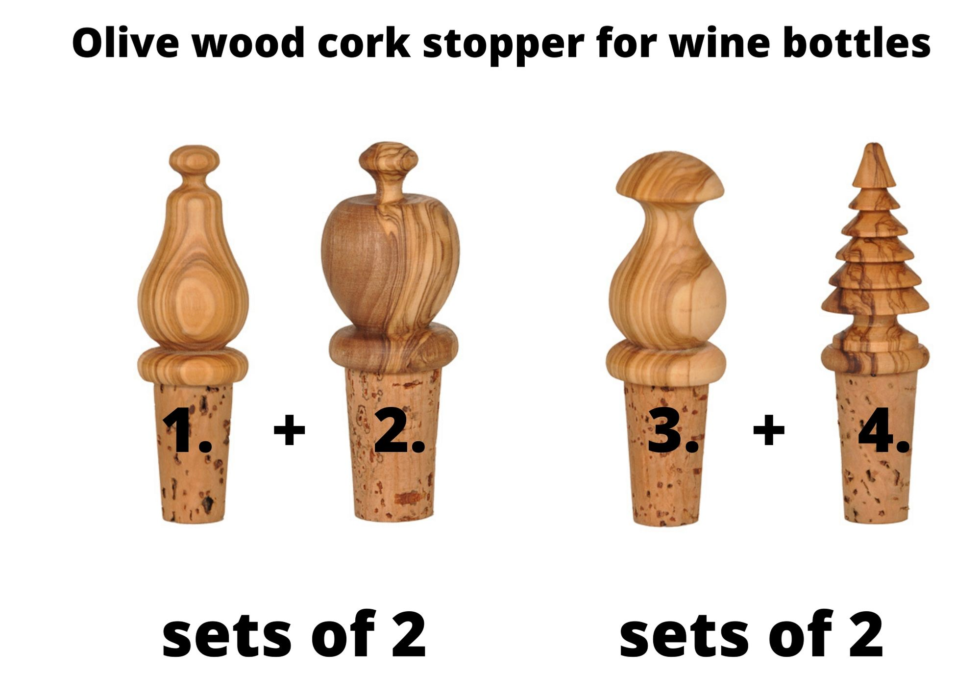 Olive wood wine stoppers