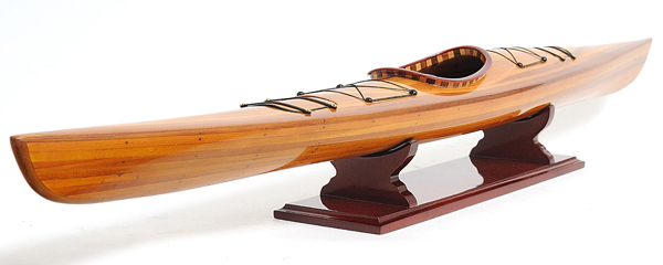 Wooden Model Boat Kayak Model-1