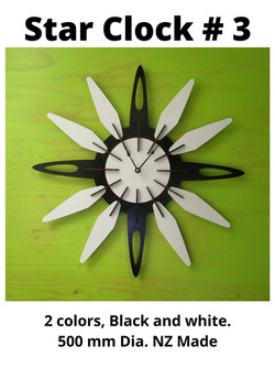 Star Clock # 3, NZ Made