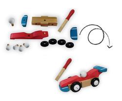 Parts Build a Racing Car