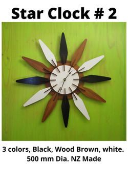 Star Clock # 2, NZ Made