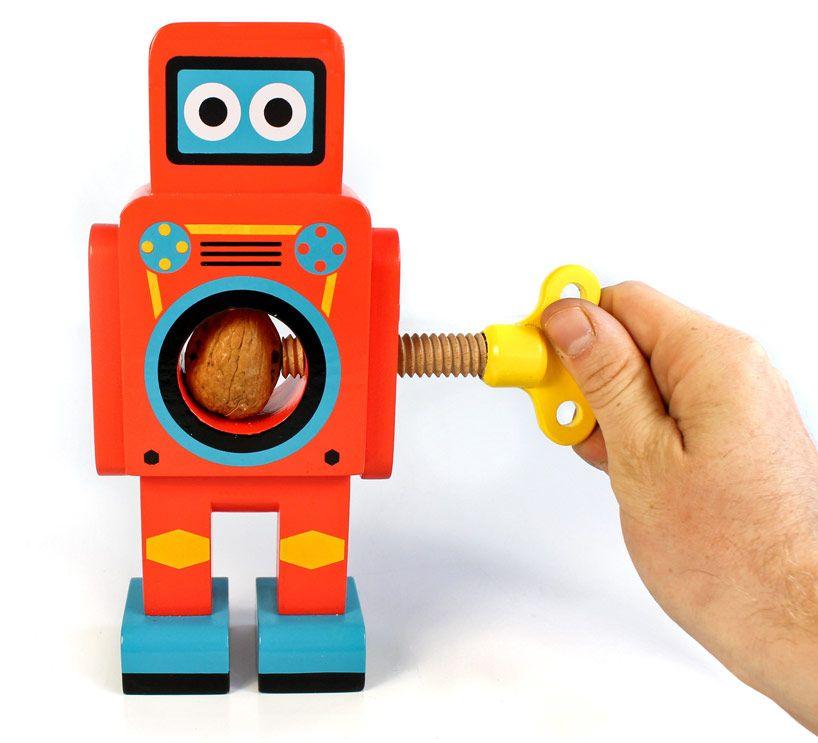 Robot Nut Cracker Red