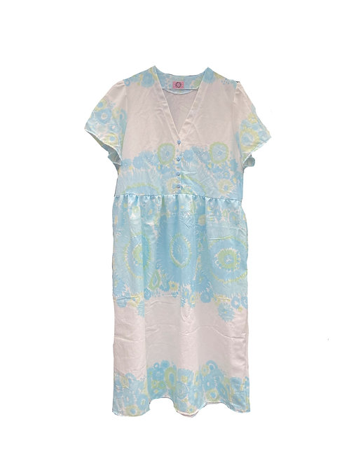 Camilla Dress Retro Blue Flowers