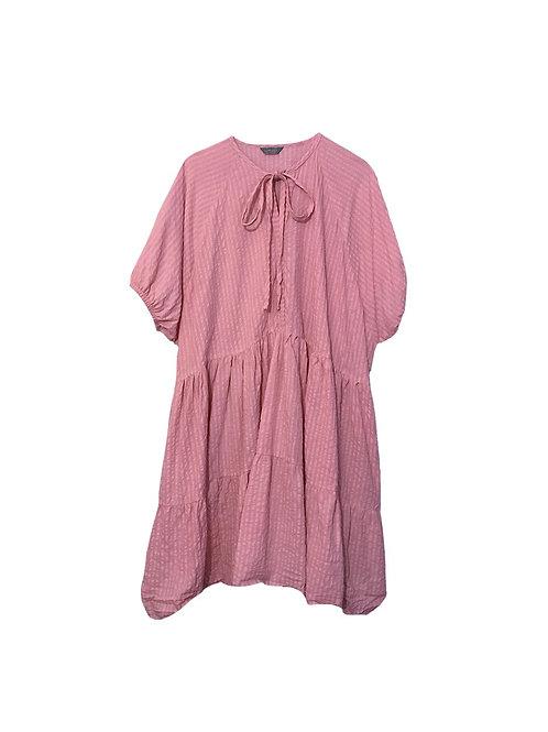 Luna Dress Powder Pink w/ short sleeves