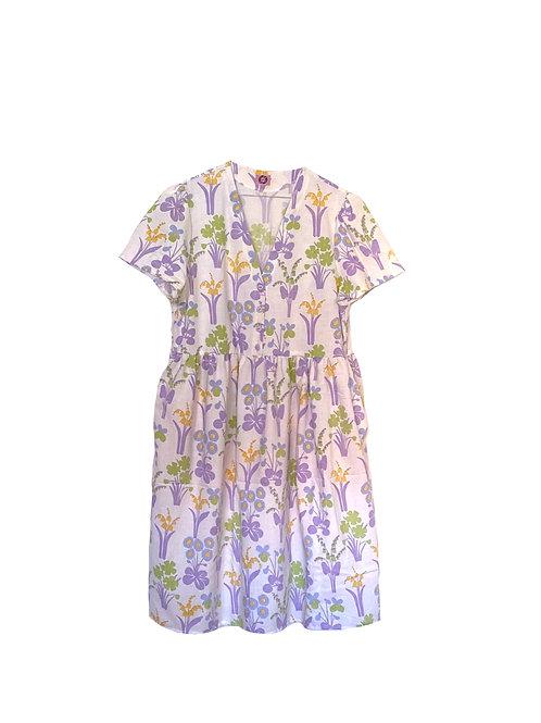Camilla Dress Purple Garden