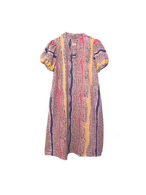 Miss V Dress Pastel Stribes