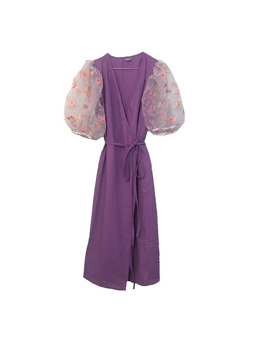 Flora Dress Flower Sleeves