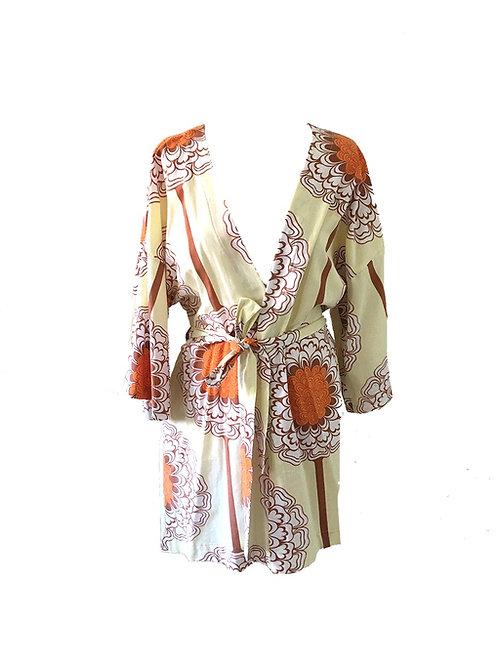 Kimono Retro Flowers