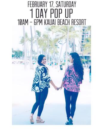 1 DAY POP UP at Kauai Beach Resort