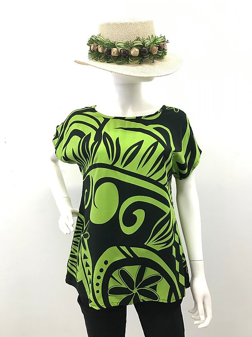 WIDE-T (Black-Green)Maile